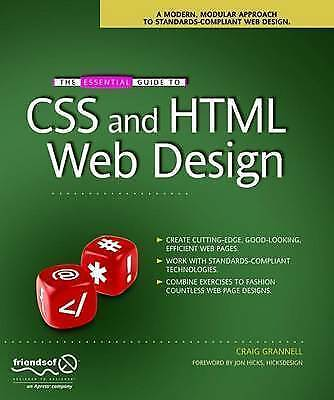 The Essential Guide to CSS and HTML Web Design (Essential Guide)-ExLibrary