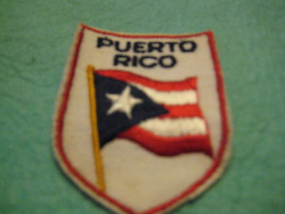 "Vintage  Puerto Rico sew on Patch 2"" X 2 3/4 """