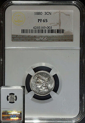 1880 Three (3) Cent Nickel NGC PF65 Superb Eye Appeal Fantastic Luster Spot Free