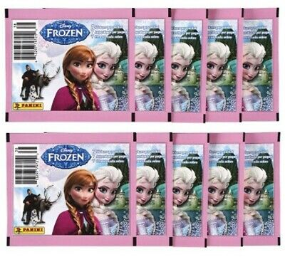 Panini Disney Frozen Album Stickers lot of 10 Unopened Packs, 70 Stickers