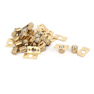 Household Cabinet Door Brass Ball Catches Latch Catcher 9.5mm Dia 20pcs