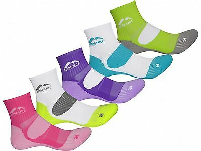 More Mile Pack of 5 Ladies Ankle Sports Running Trainers Cushioned London Socks