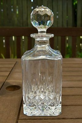 Lead Crystal Decanter with Facet Cut Stopper
