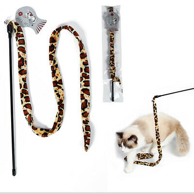 1M Cat Teaser Toy Wand Dangler Chaser Rod with Bell Pet Activity Fun Playing