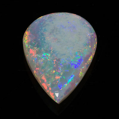 0.52ct Australian Opal Pear cab 9.21x5.99mm Natural N6 Bright Pinfire gemstone