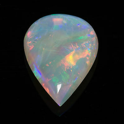 0.58ct Australian Opal Pear cab 8.98x5.88mm Natural N8 Bright Multi Flash gem