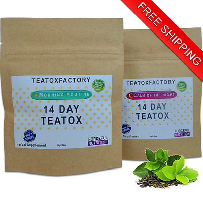 14 Day Teatox~Morning Routine & Calm Of The Night~Detox Weight Loss Diet Fit Tea