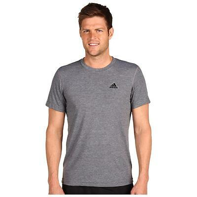 New Adidas Ultimate SS Tee Gray Black Logo Men's Size 2XL