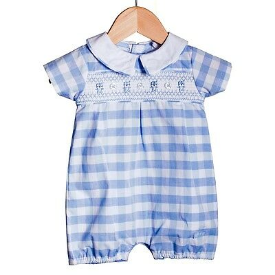 Baby Boys Traditional Romany Spanish Style Smocked Romper Suit Outfit by Zip Zap