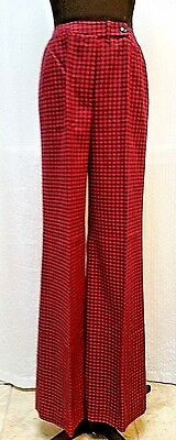 Vintage WOMEN'S LOIS ANDERSON CHECK PANTS--High Waist--Wide Leg--Waist 30 inches
