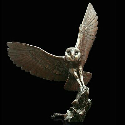 "Owl ""Voice of the Woods"" Solid Bronze Foundry Cast Sculpture Michael Simpson 950"