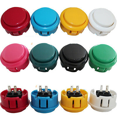 12pcs/lot 30mm Arcade DIY Push Button for MAME Sanwa OBSF-30 8 color available
