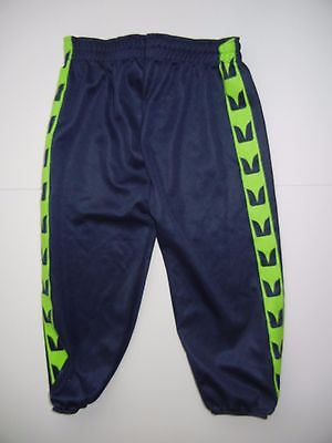 SEATTLE SEAHAWKS Team Blue/Green NFL FOOTBALL PANTS Bottoms Size YOUTH MEDIUM