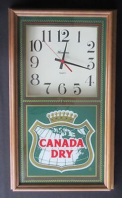 Working Canada Dry Soda Advertising Wall Clock Made By Hanover Clock