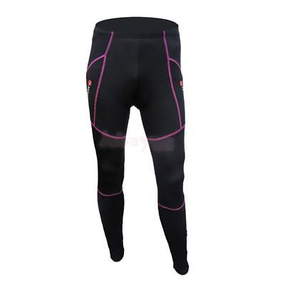 Womens Outdoor Thermal Cycling Running Tights Trouser Winter Padded Bike Legging