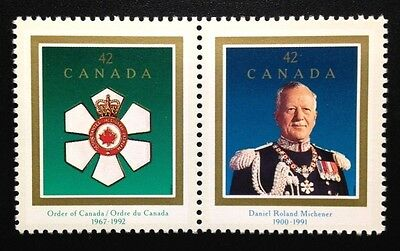 Canada #1446-1447a MNH, Order of Canada Pair of Stamps 1992