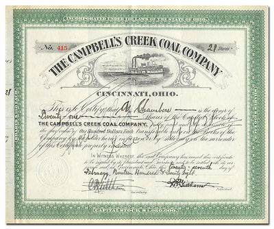Campbell's Creek Coal Company Stock Certificate