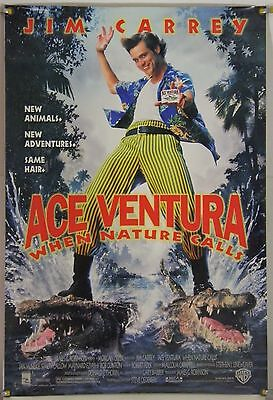 Ace Ventura: When Nature Calls Ds Rolled Orig 1Sh Movie Poster Jim Carrey (1995)