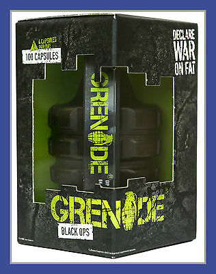 Grenade Black Ops 44 Caps Fat Burner Weight Loss.