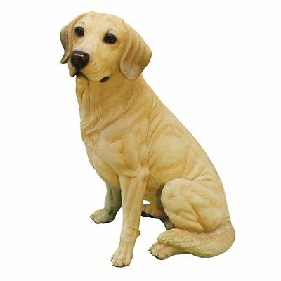 Golden Lab Labrador Retriever Dog Statue Figurine Statuary Home Sculpture Decor