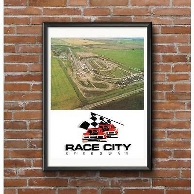 Race City Speedway Poster - Calgary Alberta Canada Drag Strip Road Course & Oval
