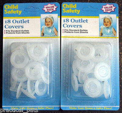 72 Lot Baby Toddler Child Proof Electric Outlet Plug Cover Safety Shock Guard