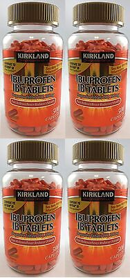 Kirkland Ibuprofen IB Tablets 200mg NSAID Pain/Fever 500 Caplets-Choose quantity