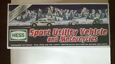 Hess Sport Utility Vehicle and Motorcycles 2004.  NEW IN THE BOX.