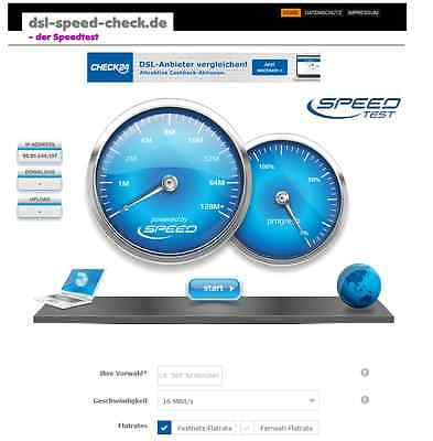 Webprojekt | dsl-speed-check.de |  Geld verdienen | kostenloser Speed Test