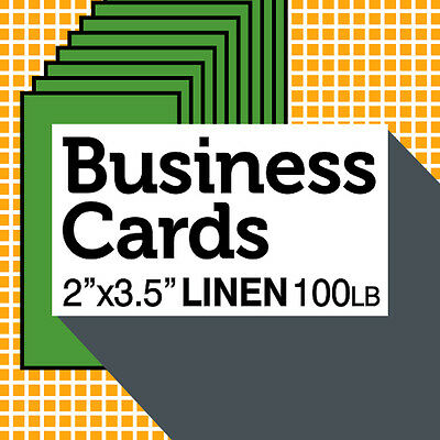 1000 Linen Paper CUSTOM BUSINESS CARDS Natural COLOR FREE Professional Design