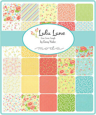 Patchwork/quilting Fabric Moda Charm Squares/packs - Lulu Lane