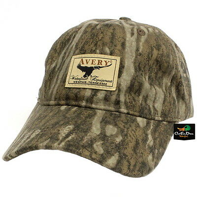 Avery Outdoors Ghg Waterfowl Equipment Logo Oil Cloth Cap Hat Bottomland  Camo bb99402256ad