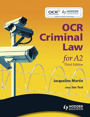 OCR Criminal Law for A2. by Jacqueline Martin-ExLibrary
