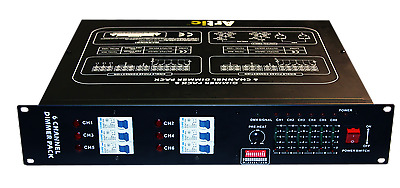 6-Ch Dimmer Pack DMX Rack Mountable
