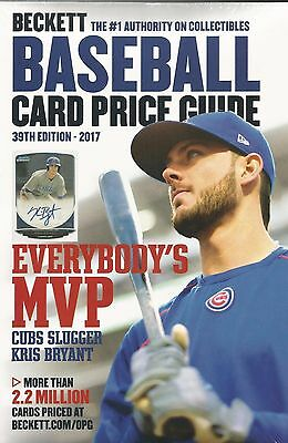 2017 Beckett Baseball Card Annual Price Guide - 39th Edition - $39.95 SRP