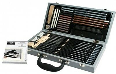 Artist Sketching Set Professional Pencils Drawing Kit Art DIY Craft Sketch Box