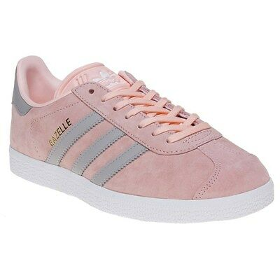 New Womens adidas Pink Gazelle Suede Trainers Retro Lace Up