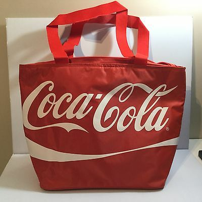 COCA COLA Large Red Insulated Cooler Tote Bag NEW - Beach - Picnic - Camping