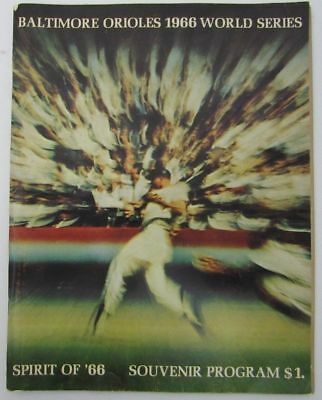 1966 World Series Orioles V. Dodgers Official Baseball Program 128992