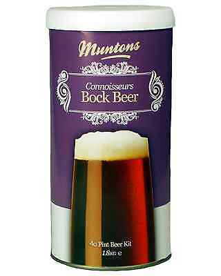 Muntons Connoisseurs Bock Beer Home Brew Kit 1.8kg Bar Accessories