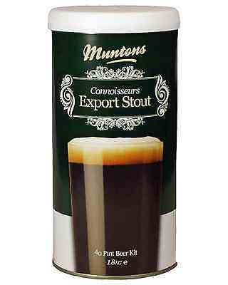 Muntons Connoisseurs Export Stout Home Brew Kit 1.8kg Bar Accessories