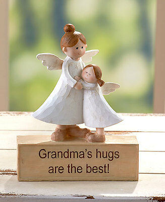 Grandma Inspirational Angel Figurine Statue Sentiment Great Gift Home Decor