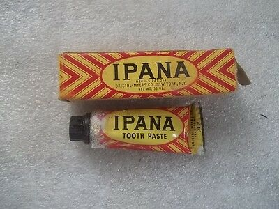 Vintage Sample Size Ipana Toothpaste Tube Tooth Paste ORIGINAL BOX