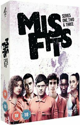 Misfits - Series 1-3 [DVD] - DVD  PKVG The Cheap Fast Free Post