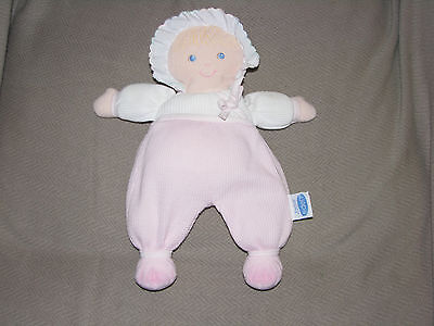 Eden Baby Girl First Doll Soft Stuffed Plush Cloth Thermal Waffle Weave Pink Toy