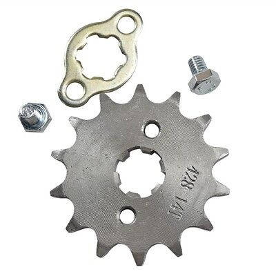 Engine Sprocket 14 Tooth Fit Mini Bike Go Cart Kart 17mm 428-14T 428 Chain