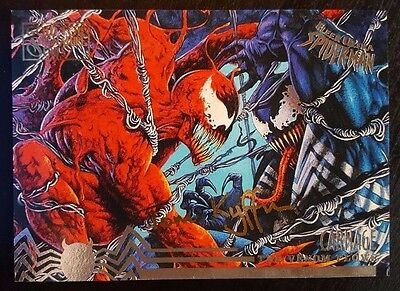 1995 Fleer Ultra Spider-Man #99 - The Venom Flows - Gold Foil Signature - MINT