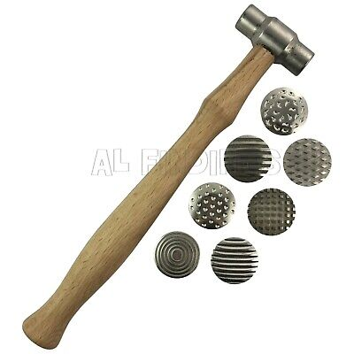 Set 7 Textured hammers metal assorted effects pattern craft Jewellery tool