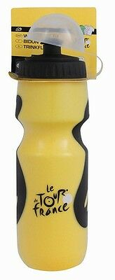 Bicycle Cycle Bike Tour De France Yellow Black 700ml Liquid Water Bottle