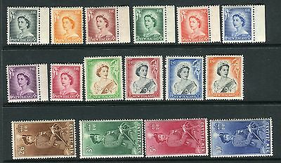 NEW ZEALAND-1953-9.  An unmounted mint set to 10/- Sg 723-736
